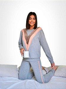 Pijama Good Vibes Cinza