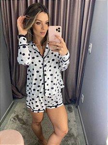 Pijama Shorts Poá