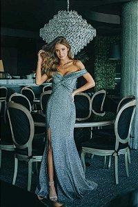Vestido Longo Denise Preto