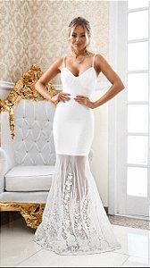 Vestido Longo Lety Branco