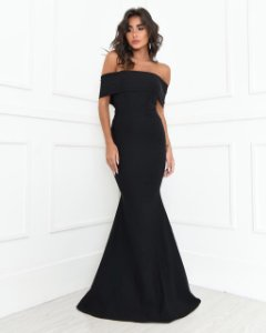 Vestido Longo Bruna Preto