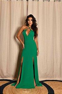 Vestido Longo Fendi Verde