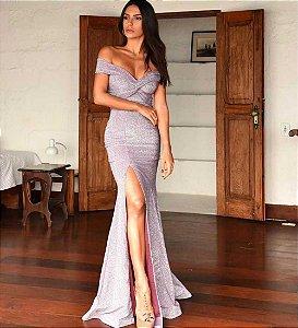 Vestido Longo Denise Roxo