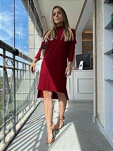 Vestido Tricot Mousse Marsala