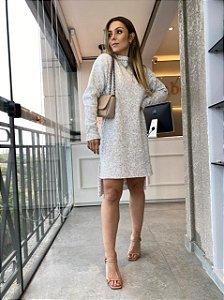 Vestido Tricot Mousse Creme