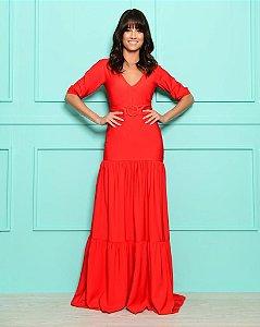 Vestido Longo Bianca Vermelho