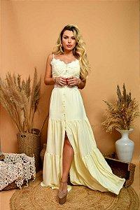 Vestido Longo Sabrina Amarelo