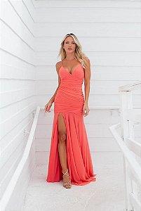 Vestido Longo Joyce Coral