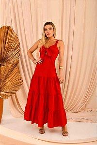 Vestido Longuete Grace Vermelho