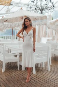 Vestido Mid Giu Branco