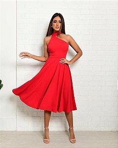 Vestido Mid Lisa Vermelho