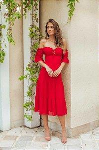 Vestido Mel Vermelho