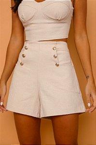 Shorts Aline Creme