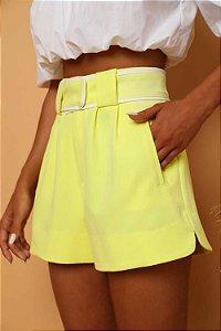 Shorts Cinto Alfaiataria Lima