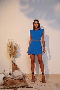 Conjunto Shorts Saia Isa Azul