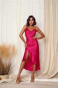 Vestido Cetim Jenny Pink