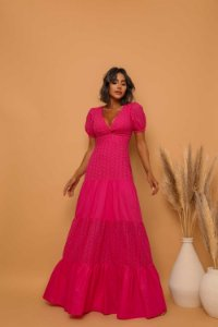 Vestido Longo Alma Rosa