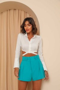Camisa Cropped Lunna Off