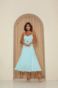 Vestido Midi Piedpoule Azul