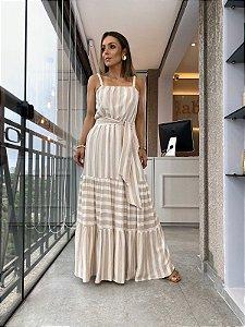 Vestido Livia Areia