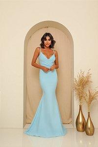 Vestido Longo Laura Azul