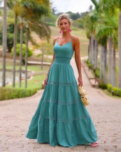Vestido Longo Susi Verde