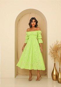 Vestido Midi Nina Verde