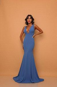 Vestido Longo Aline Azul