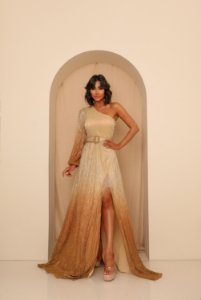 Vestido Longo Lully Dourado