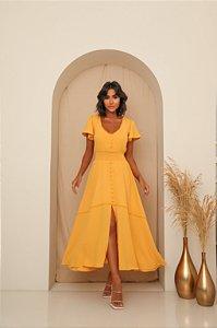 Vestido Midi Luana Amarelo