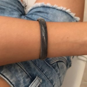 Bracelete ródio negro simples