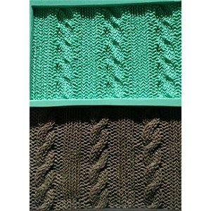 Molde de silicone de Textura Tricô 3