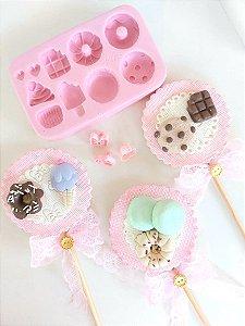 Molde de silicone de Doces (Modelo 2) biscoito, cookie, picolé, sorvete, chocolate , macarrons , pudim, confeitaria