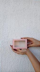 Caixa com Visor para Doces (6 doces) Rosa