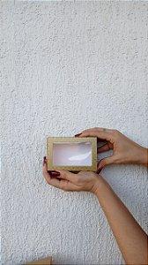 Caixa com Visor para Doces (6 doces) Dourada