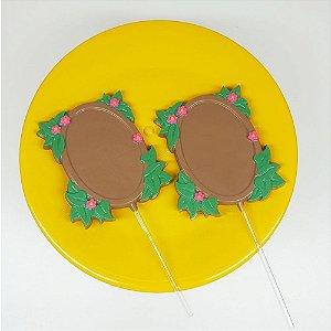 Forma Pirulito Espelho Florido 9821 BWB