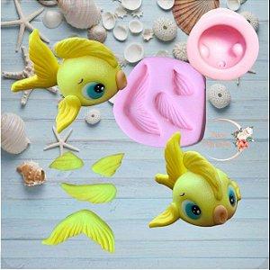 Molde Peixes Fundo do Mar