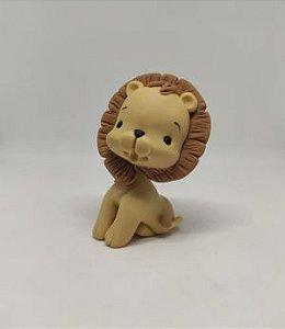 Aplique de Biscuit Elefante e Leão (Mimos de Luxo)