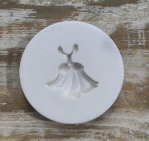 Molde de silicone Vestido da Cinderela