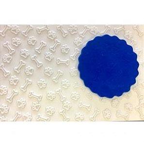 Molde de silicone Textura Patinha e Osso de Cachorro / patrulha canina
