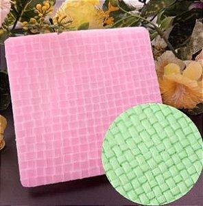 Molde de silicone Textura de Tricô (modelo 4)