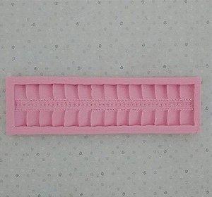 Molde de silicone de Telhado/Cobertura de Casinha/ Rodapé (Modelo 38)
