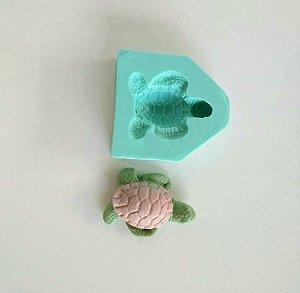 Molde de silicone de Tartaruga fundo do mar