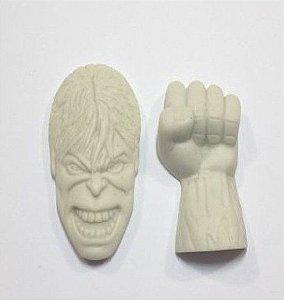 Molde de silicone Soco do Hulk e Rosto