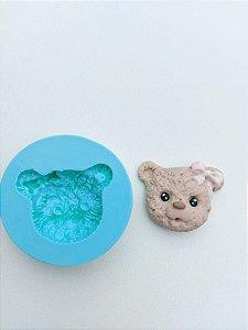 Molde de silicone Rosto do Urso Com Laço
