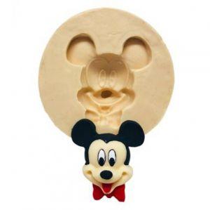 Molde  de silicone Rosto do Mickey Com Gravata Borboleta