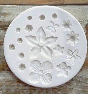 Molde de silicone de Rosas e Flores- Jardim (Modelo 8)
