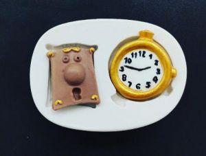 Molde de silicone de Relógio e Fechadura (Alice no País das Maravilhas)