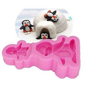 Molde de silicone de Pinguim Baby