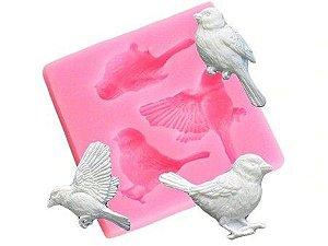 Molde de silicone de Pássaros- Jardim (Modelo 6)